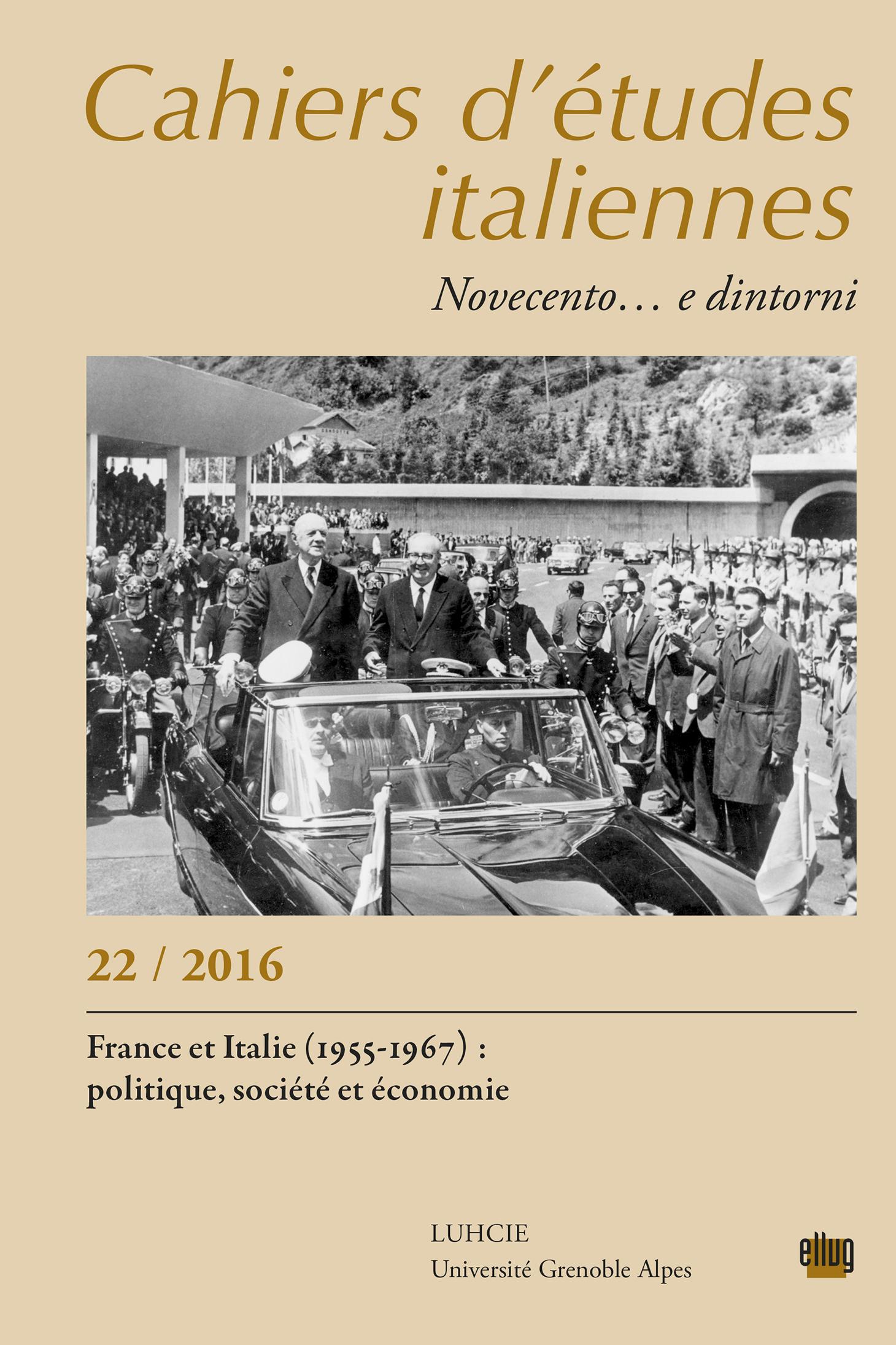 Couverture Cahiers d'études italiennes 22