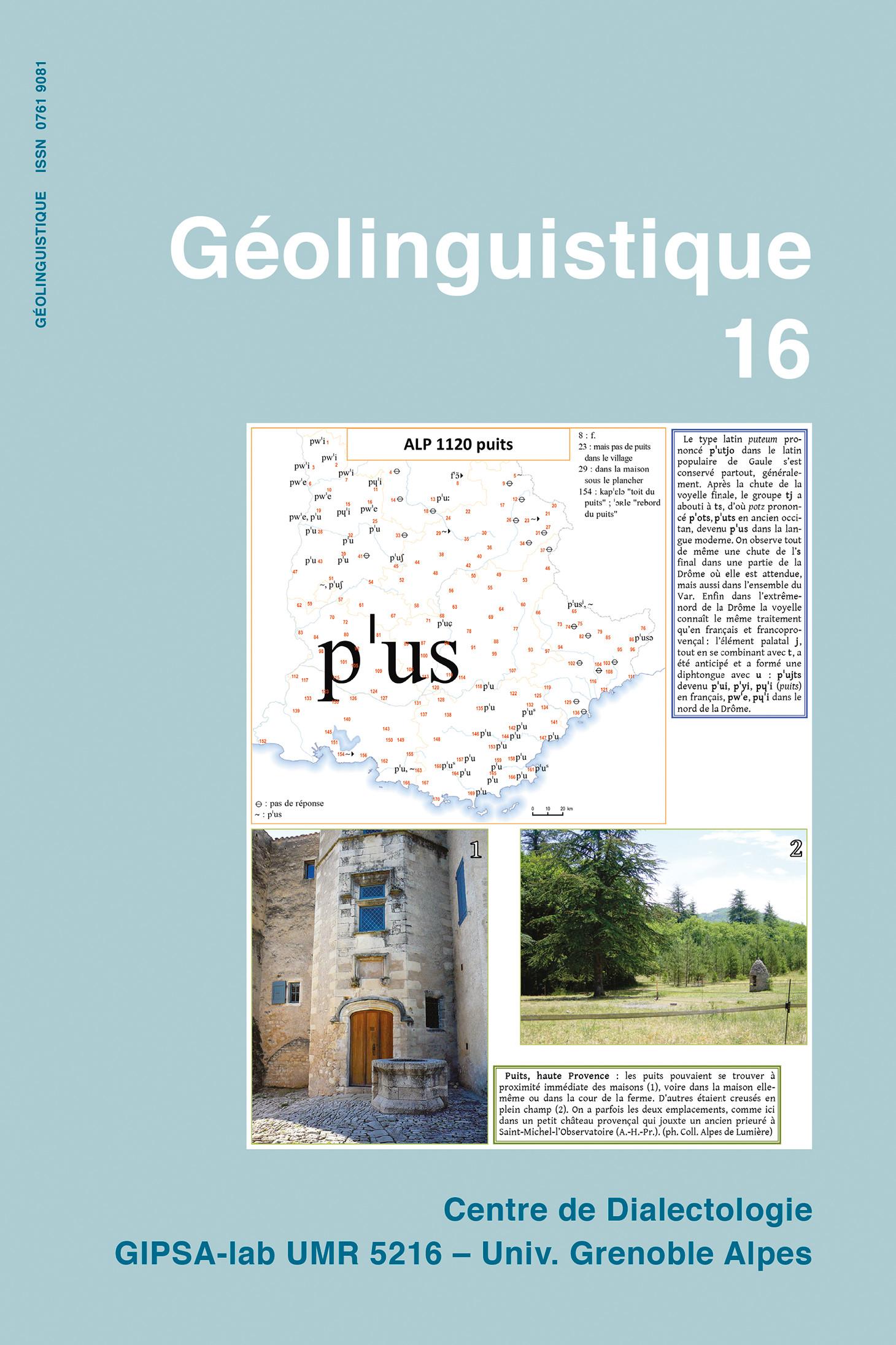 Couverture Geolinguistique 16