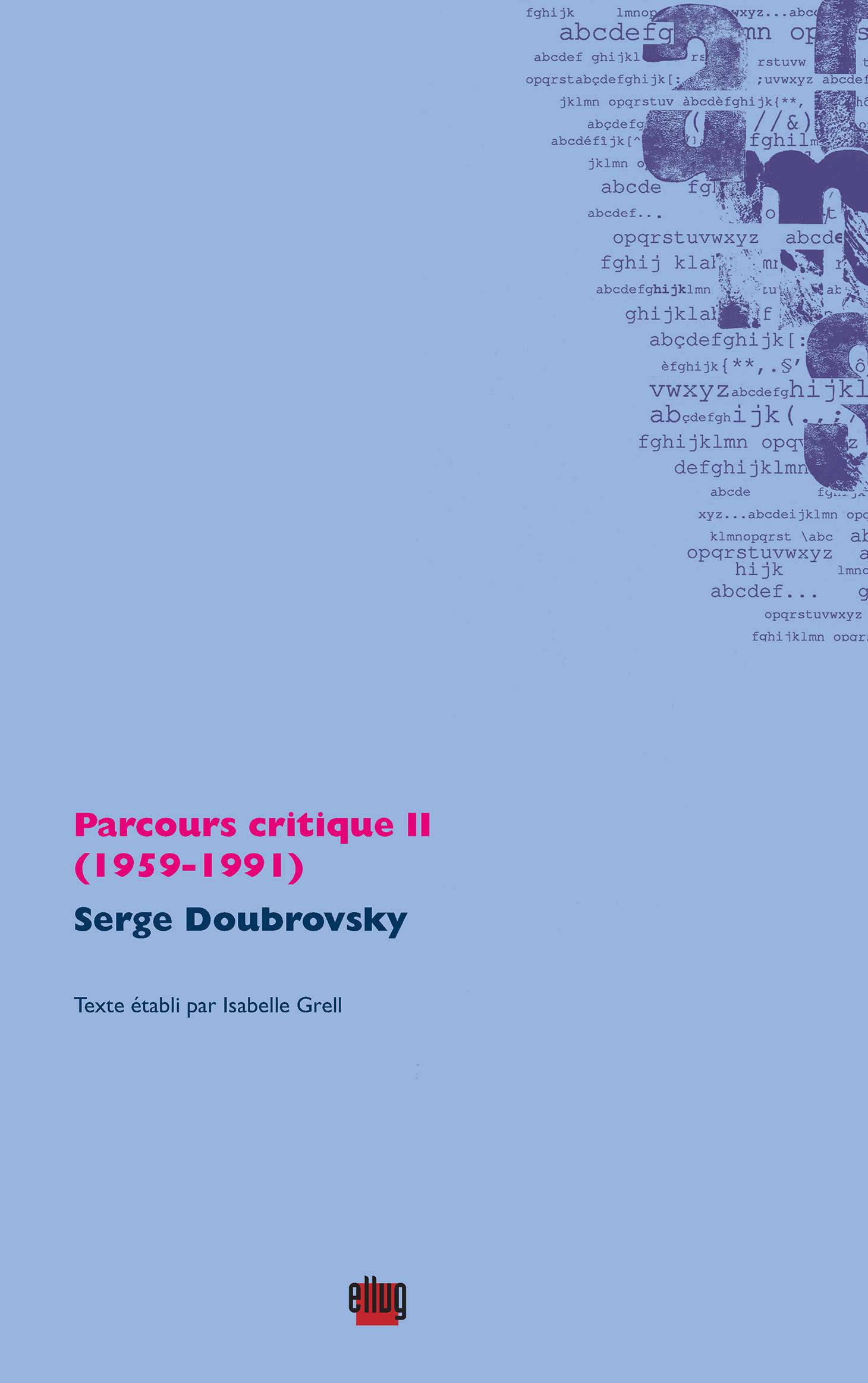 Couverture Parcours critique II-Doubrovsky