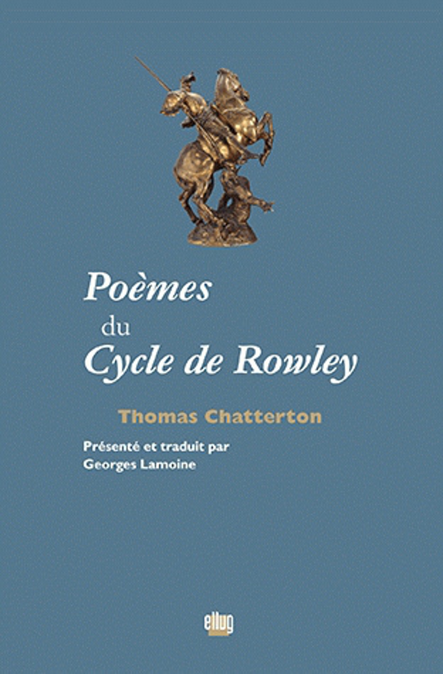 Couverture Cycle de Rowley de Chatterton