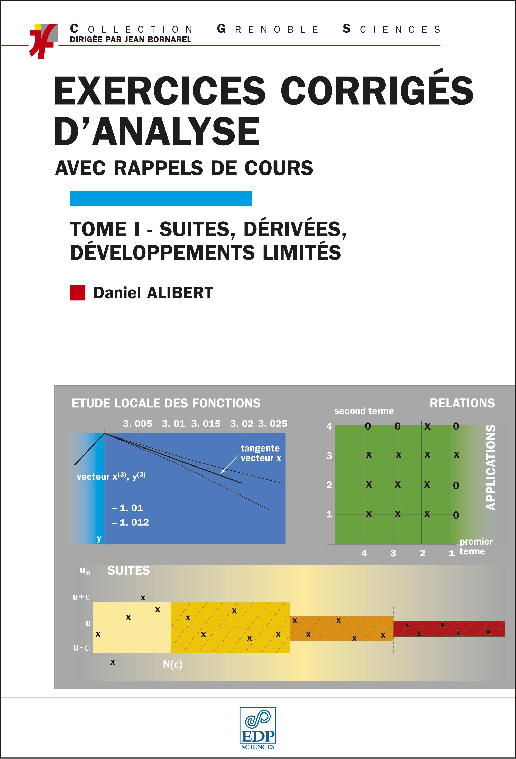 Couverture Exercices corrigés d'analyse T1