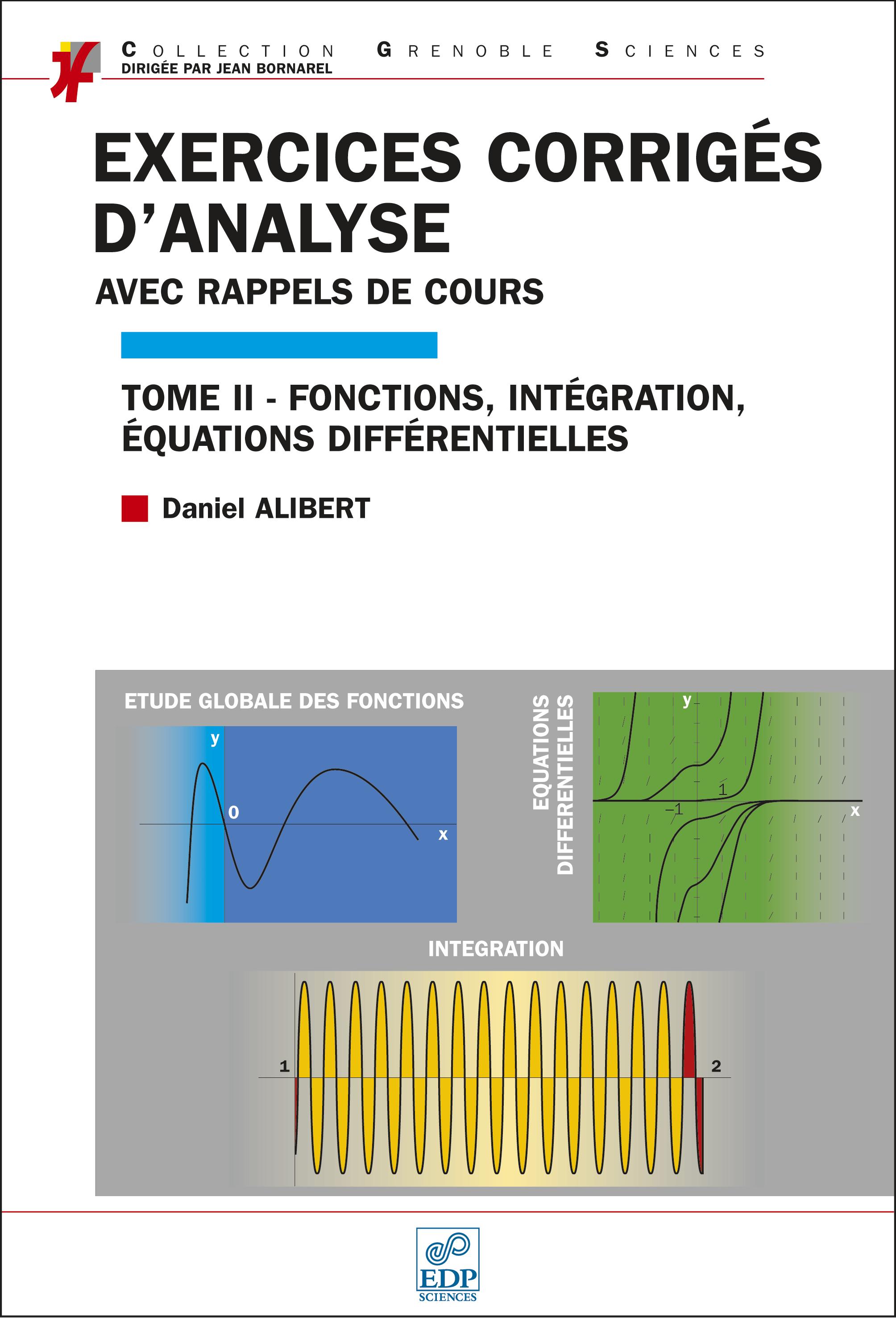 Couverture Exercices corrigés d'analyse T2