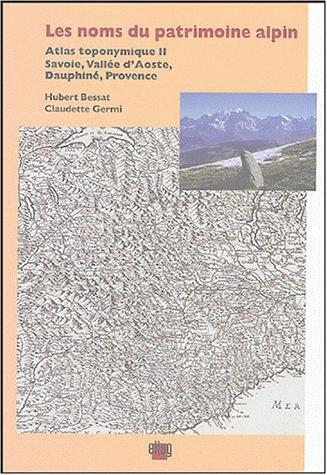Couverture Les noms du patrimoine alpin