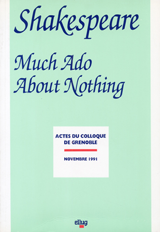 Couverture Shakespeare Much ado nothing