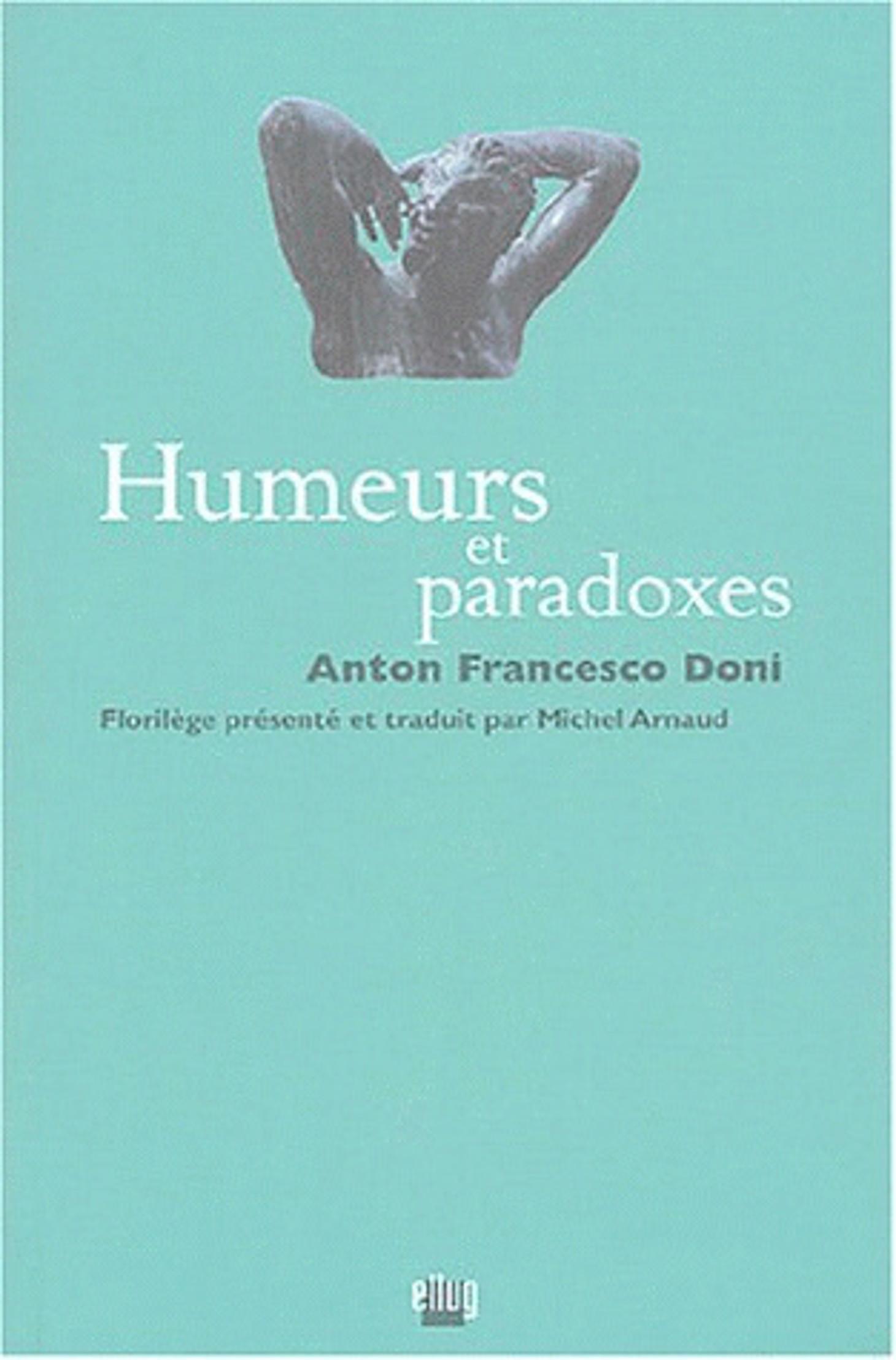 Couverture Humeurs et paradoxes
