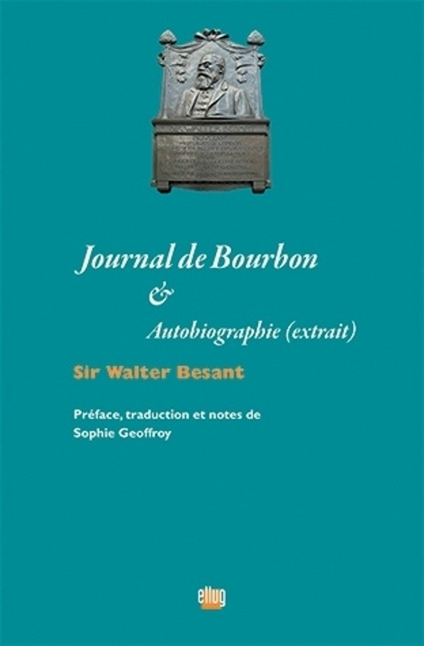 Couverture Journal de Bourbon de Sir Walter Besant