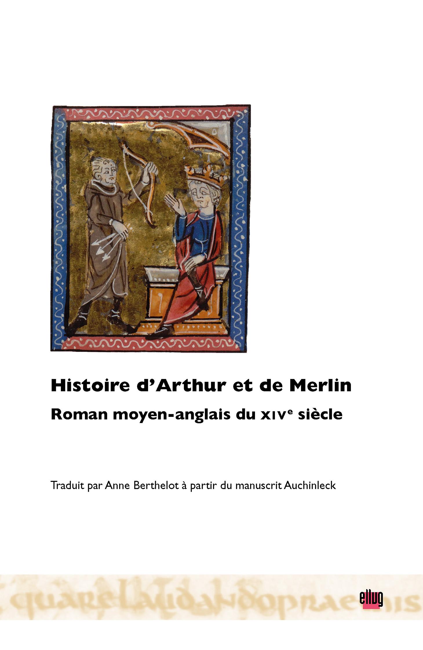 Couverture Histoire d'Arthur et de Merlin