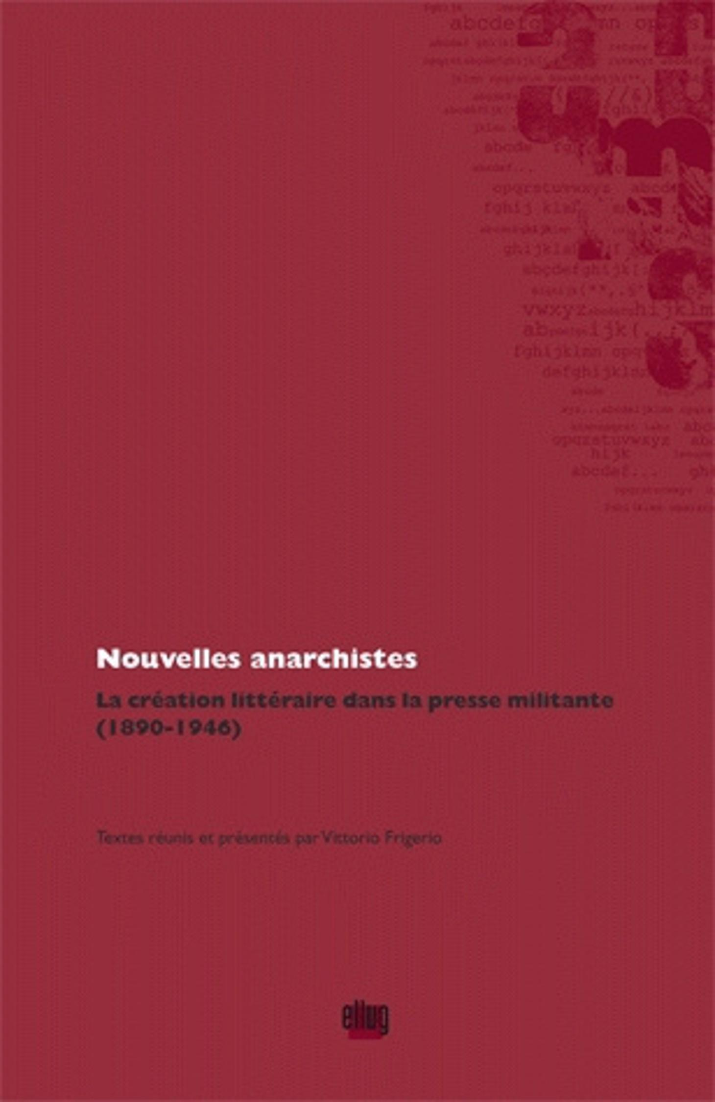 Couverture Nouvelles anarchistes