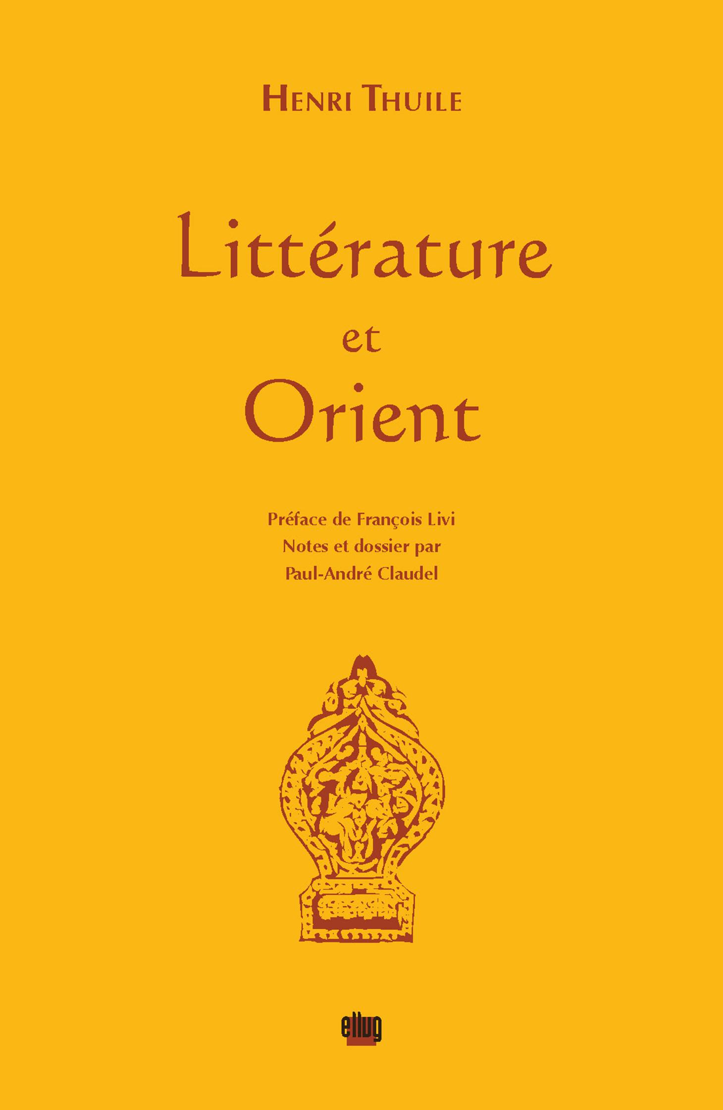 Couverture Littérature et Orient