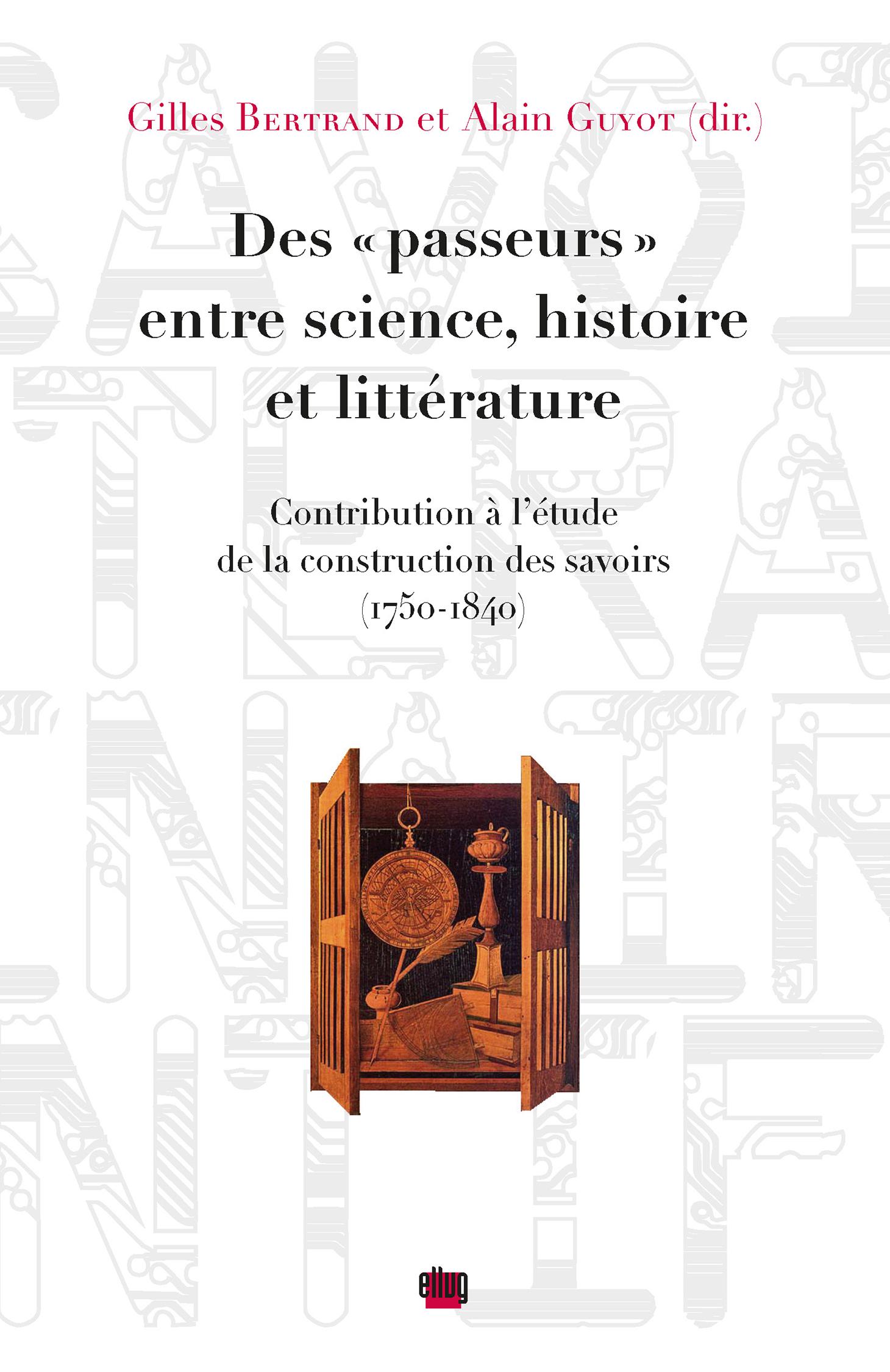 Couverture Passeurs entre science, histoire et littérature